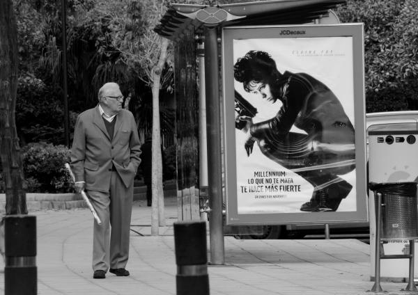 Man looking film poster