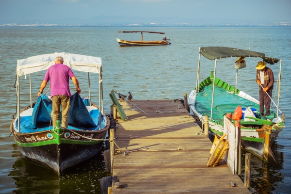 Dock at Albufera lake