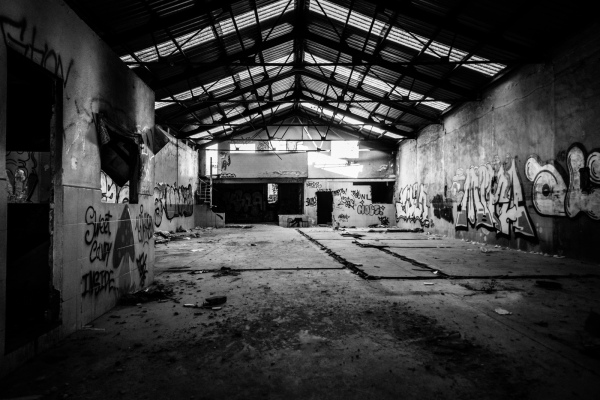 Abandoned warehouse, indoor