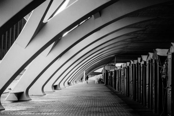 Arches in City of Arts and Sciencies, València