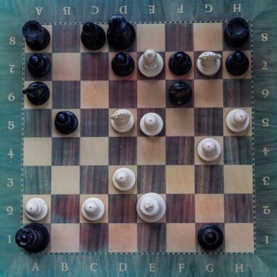 chess board: Immortal Game